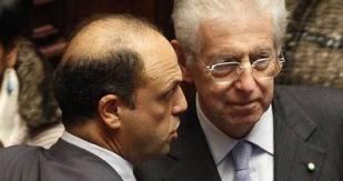 Alfano non si presenta all'incontro con Monti e lo annuncia al Tg5. Bersani: Cosa incredibile