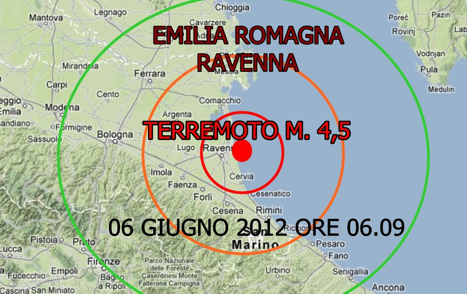 Emila senza pace: la terra trema ancora. All'alba scosse a Ravenna di magnitudo 4.5