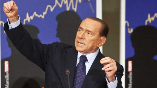 Berlusconi si candida. Alfano al Colle. Napolitano: Non mandiamo a picco tutto