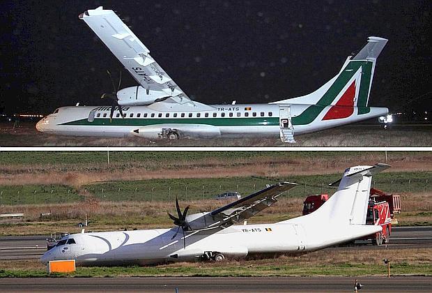 Fiumicino, aereo finisce fuori pista. Sedici feriti: due sono gravi. Nella notte cancellato il logo Alitalia