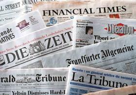 Allarme e preoccupazione della stampa estera per il caso Italia: Forti timori per l'Euro e la tenuta dei mercati