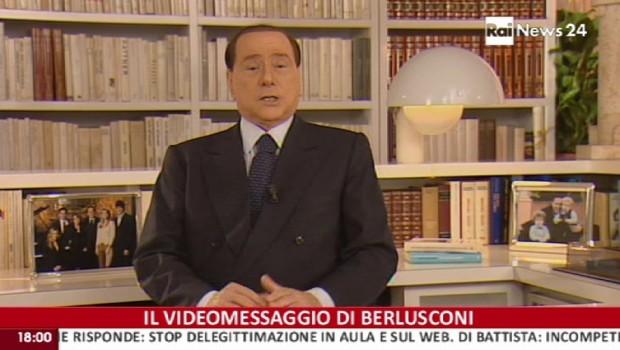 """Berlusconi,16 minuti contro tutti: """"Democrazia dimezzata, faro' politica fuori dal Parlamento"""""""