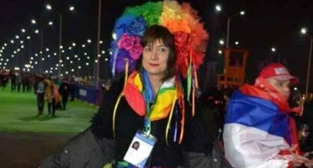 Vladimir Luxuria arrestata e poi rilasciata a Sochi per uno striscione pro gay