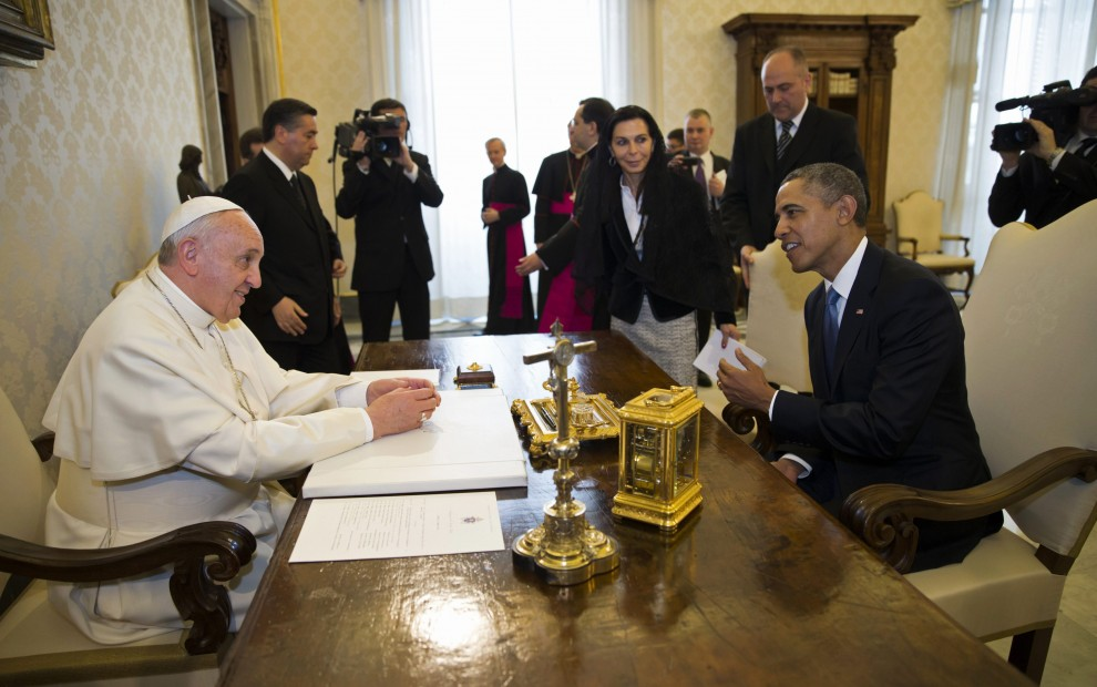 "Obama incontra Papa Francesco: ""Thank you, thank you"". E il pontefice: ""benvenuto signor Presidente"""