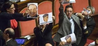 Voto di scambio politico-mafioso, passa il Ddl al Senato ma è bagarre. Espulsi i senatori 5 Stelle. Inasprite le pene