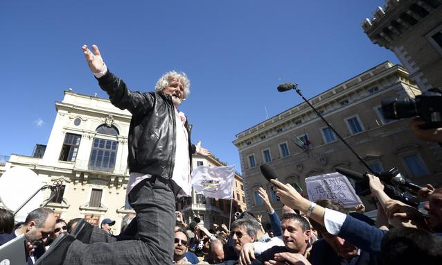 """Elezioni europee, Grillo: """"Se il M5S vincerà, chiederò a Napolitano di poter avere il governo in mano"""""""