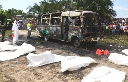 Dramma in Colombia, bus prende fuoco: 32 bimbi morti carbonizzati
