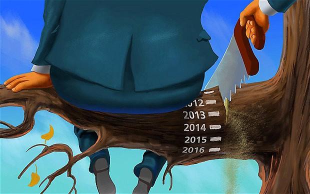 Doccia fredda sulle speranze di ripresa, il 2014 sarà a crescita zero. Siamo rimasti nel tunnel della crisi