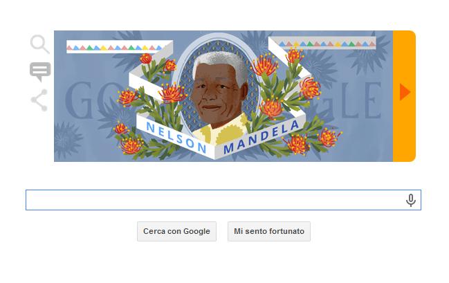 Mandela Day, anche Google celebra Madiba con un doodle. Oggi avrebbe compiuto 96 anni