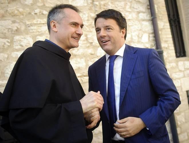 """Assisi, Renzi assiste alle celebrazioni per San Francesco patrono d'Italia: """"Dovremmo fare nostro il concetto francescano della 'perfetta letizia'"""""""