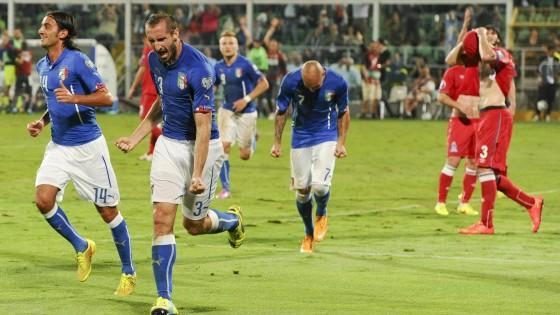 Qualificazioni agli Europei 2016, l'Italia vince contro l'Azerbaigian grazie ad una doppietta di Chiellini