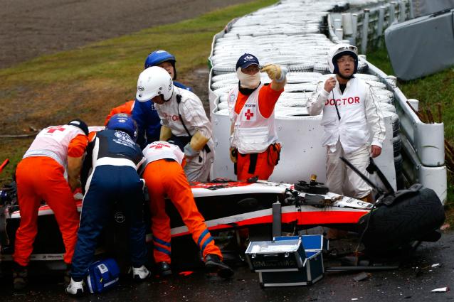 """F1: Grave incidente per Bianchi in Giappone, è in pericolo di vita. Il padre: """"La situazione resta critica, ma Jules può farcela. Deve farcela"""""""