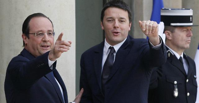 """Austerity, Renzi sta dalla parte di Hollande: """"Quello del 3% è un parametro del passato, anche se noi lo rispetteremo"""""""