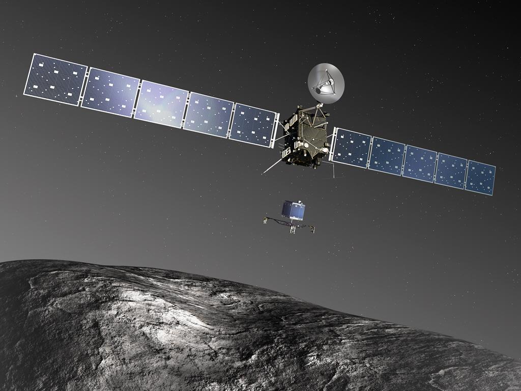 Spazio, il lander Philae si è staccato da Rosetta per raggiungere la cometa. Arrivo previsto alle 17