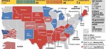 Usa, elezioni di Midterm: Repubblicani vicini al traguardo del controllo di Senato e Camera. Test amaro per Obama
