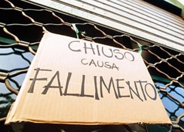 Crisi economica, nel 2014 sono fallite più di 15000 aziende. Persi oltre 160.000 posti di lavoro, un terzo dei quali al nord ovest
