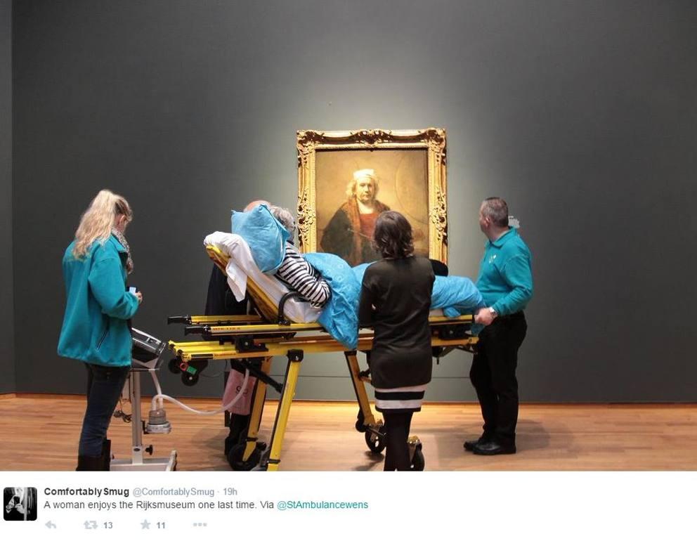"""Olanda, esaudito l'ultimo desiderio di una malata terminale: """"Voglio vedere la mostra di Rembrandt"""""""