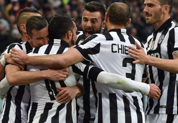 Juventus vince con la Sampdoria (1- 0) ed e' campione d'Italia. Quattro scudetti consecutivi. Decisivo il goal realizzato da Vidal