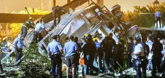 Treno Usa deraglia a Philadelphia: 5 morti e 50 feriti. Dieci vagoni fuori dai binari in una curva. Escluso per ora il terrorismo