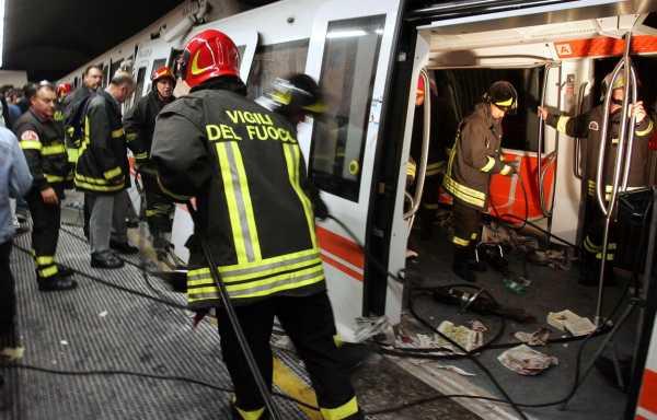 Roma, scontro tra due convogli della metro B (Eur Palasport): 21 feriti. Probabile errore del macchinista