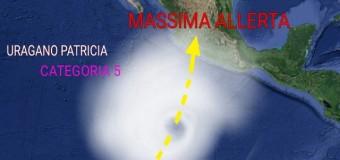 Messico, in arrivo Patricia uno spaventoso uragano di forza 5 con venti di 320 km orari. Massiccia evacuazione lungo le coste